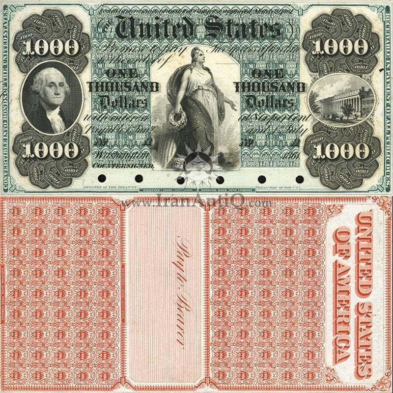 1000 دلار سری بهره دار خزانه داری - جورج واشنگتن