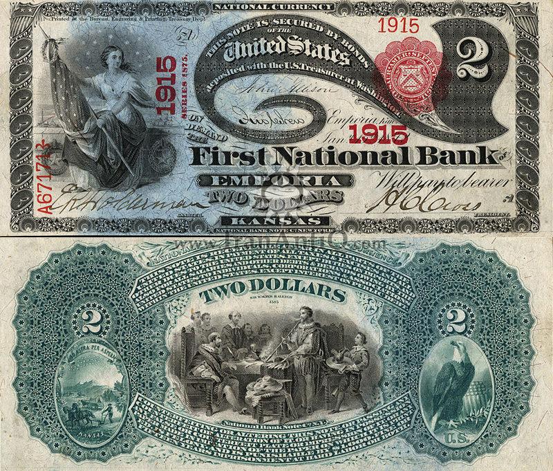 2 دلار سری ملی
