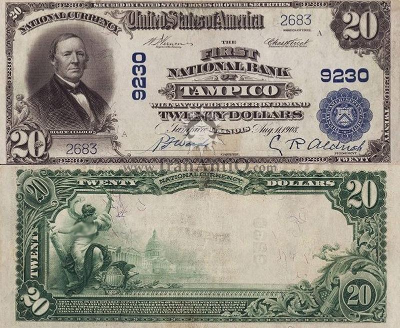 20 دلار سری ملی - هوگ مک کولوچ
