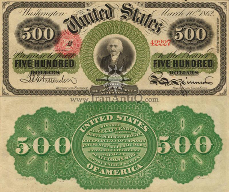 500 دلار سری رایج ایالات متحده - آلبرت گالتین