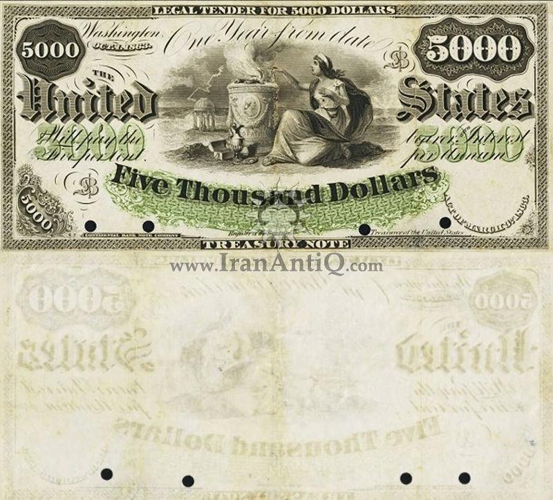 5000 دلار 5000 دلار سری رایج خزانه داری
