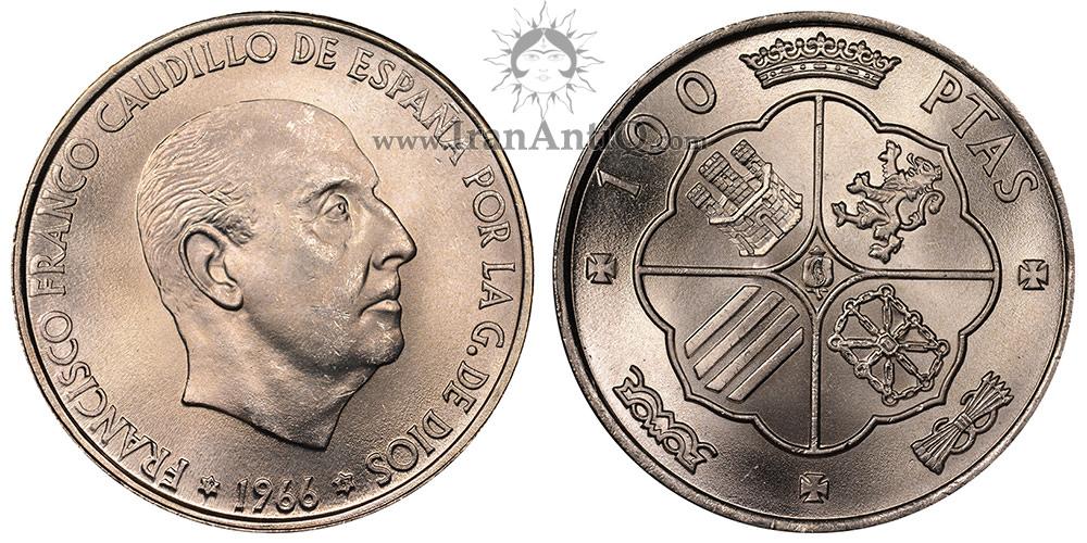 سکه 100 پزتا فرانکو