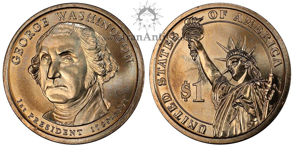 سکه یک دلار ریاست جمهوری - جرج واشنگتن - Presidential One Dollar Coins