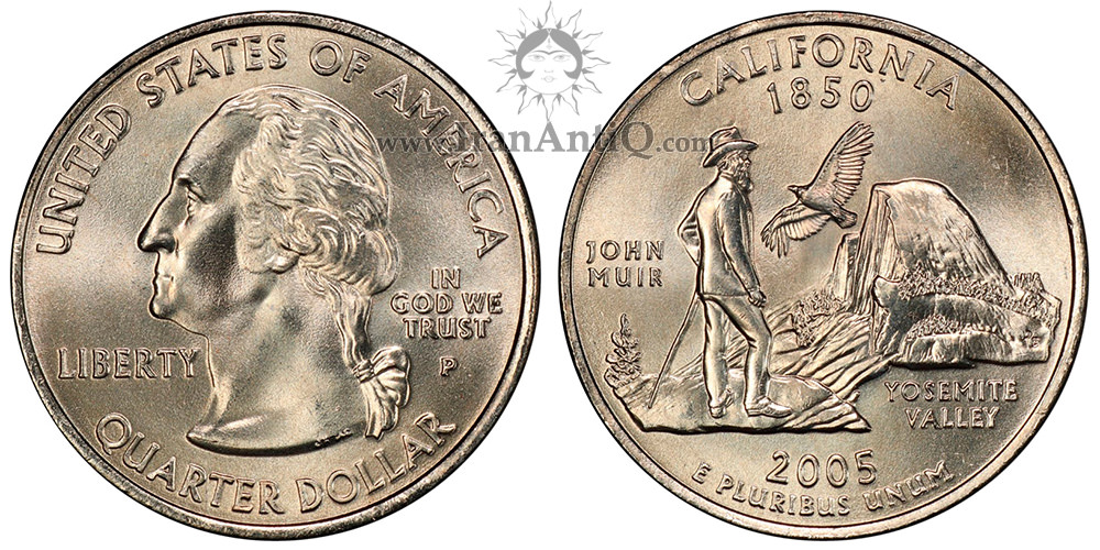 کوارتر پنجاه ایالت - کالیفرنیا - Presidential Quarter Dollar Coins