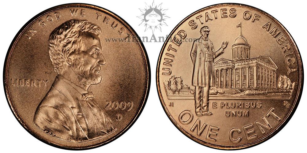 سکه یک سنت سری دویست سالگی لینکلن - Lincoln Bicentennial One Cent