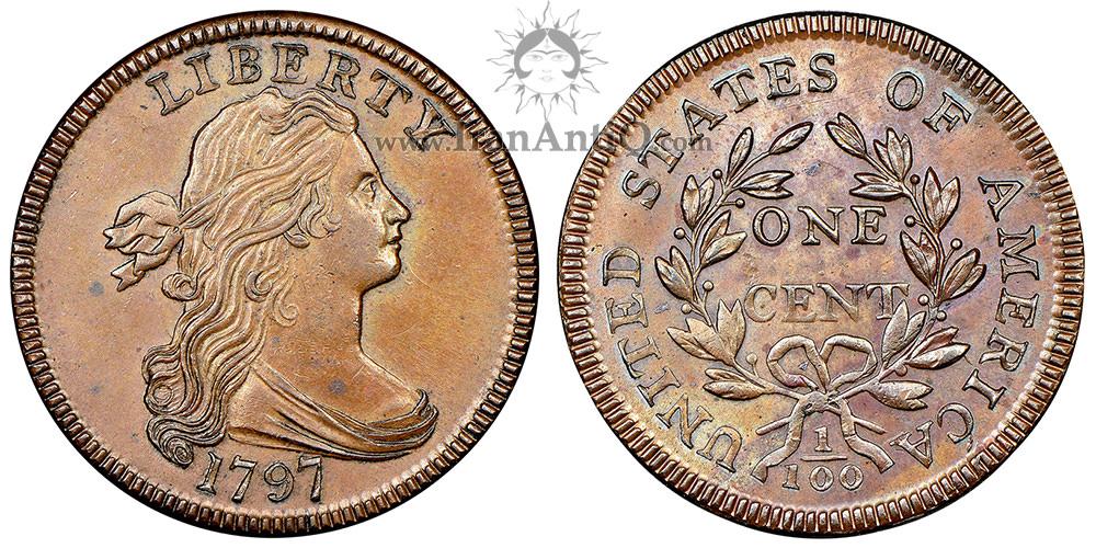سکه یک سنت نیم تنه