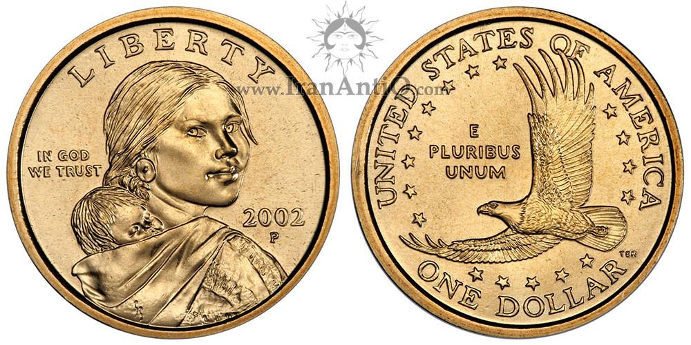 سکه یک دلار ساکاگاوا (دختر سرخپوست) - Sacagawea One Dollar