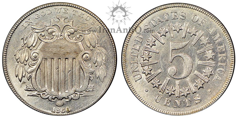 سکه پنج سنت سپر - نوع یک