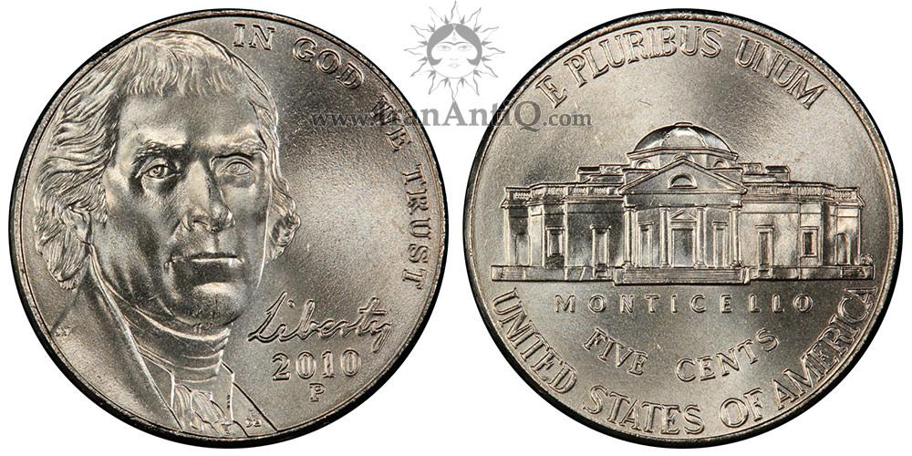 سکه پنج سنت پرتره جفرسون