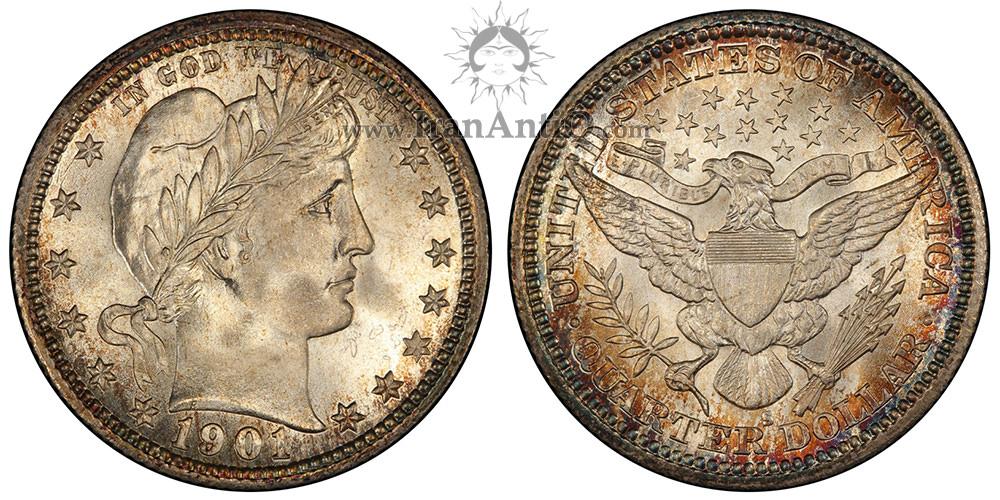 سکه کوارتر دلار باربر - Barber Quarter Dollar