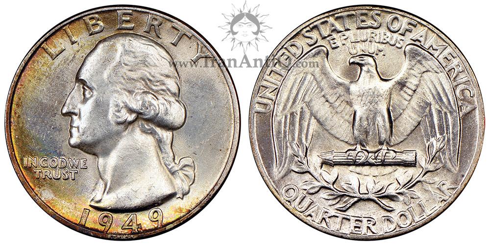 سکه کوارتر دلار واشنگتن - Washington Quarter Dollar