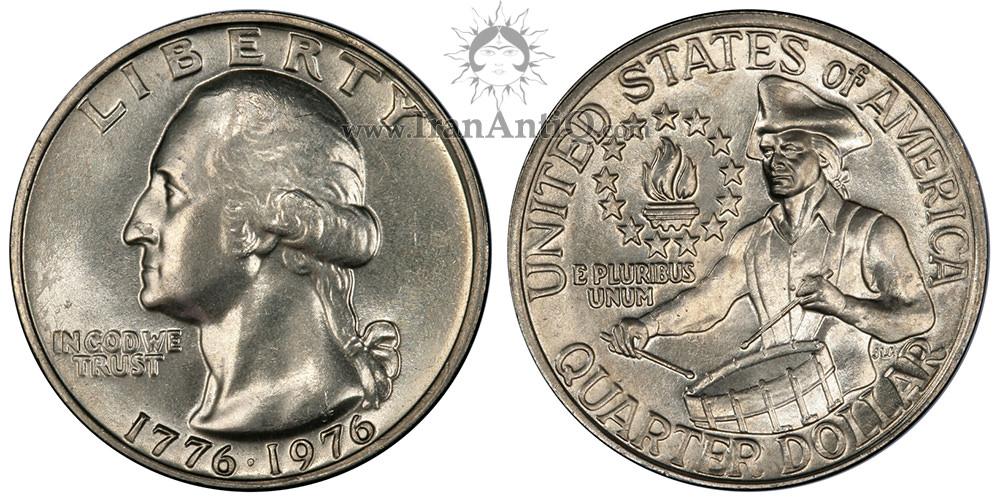 سکه کوارتر دلار جشن دویست سالگی واشنگتن - Washington Bicentennial Quarter Dollar