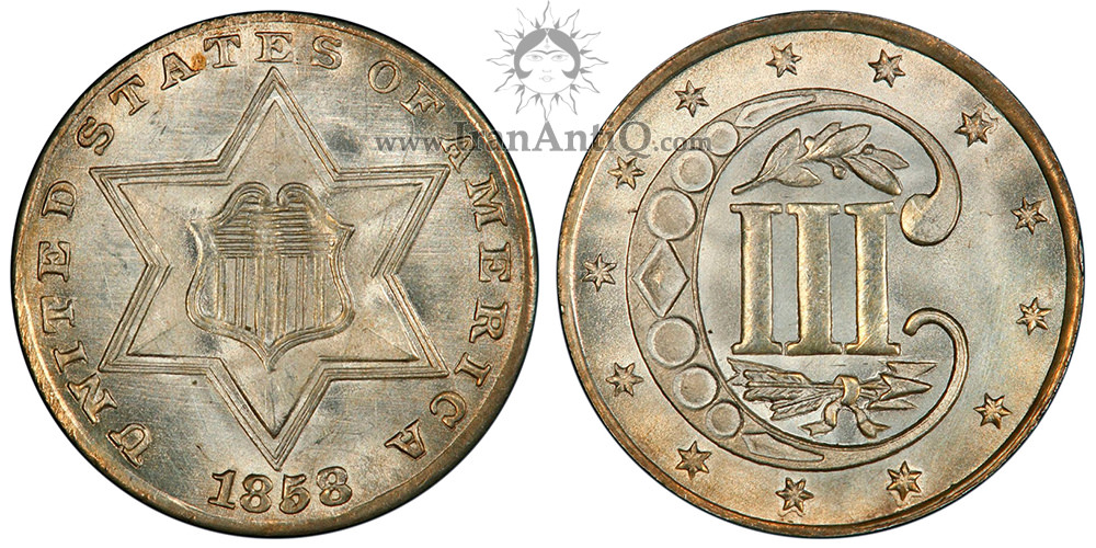 سکه 3 سنت - نوع دو