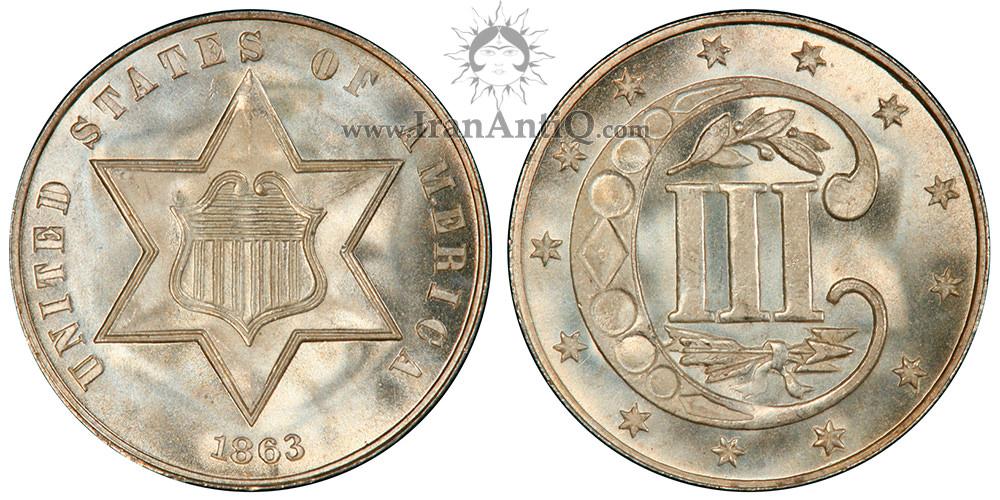 سکه 3 سنت - نوع سه