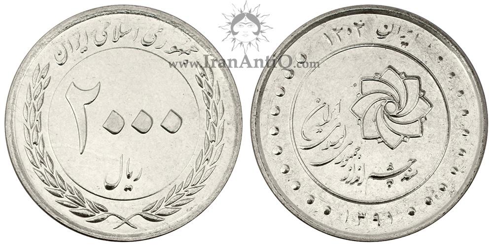 سکه 2000 ریال سند چشم انداز 1404 جمهوری اسلامی ایران - IR Iran 2000 rials coin
