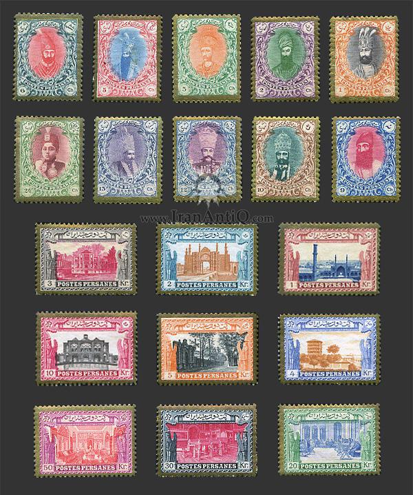 تمبرهای سری دیوانی احمد شاه قاجار