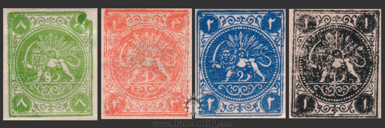 تمبرهای سری کاردی ناصرالدین شاه قاجار