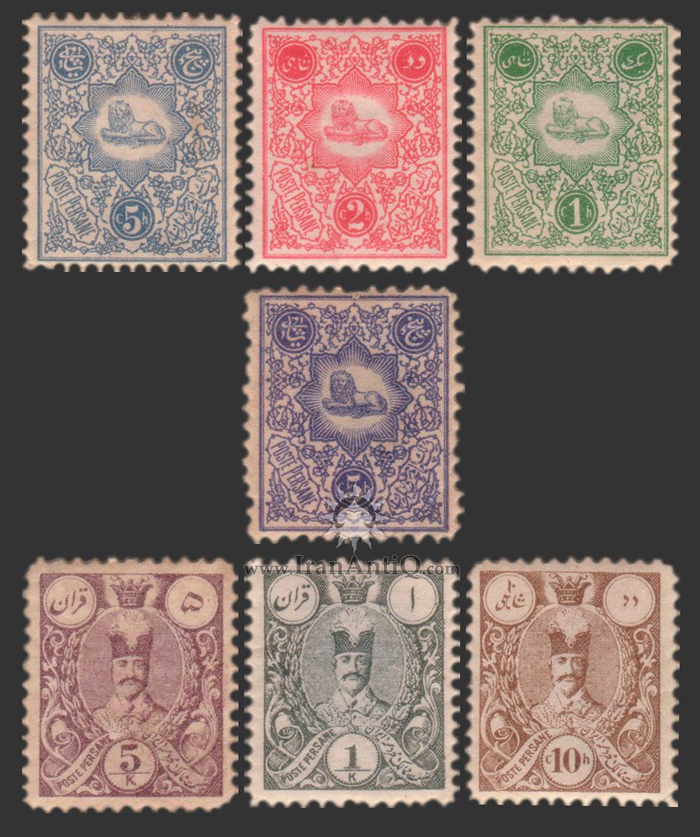 تمبرهای سری شویدی ناصرالدین شاه قاجار