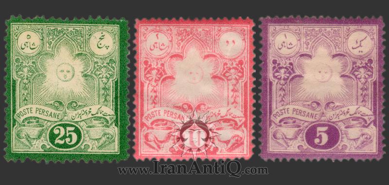 تمبرهای سری لیتوگراف ناصرالدین شاه قاجار