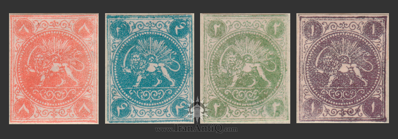 تمبرهای سری باقری ناصرالدین شاه قاجار