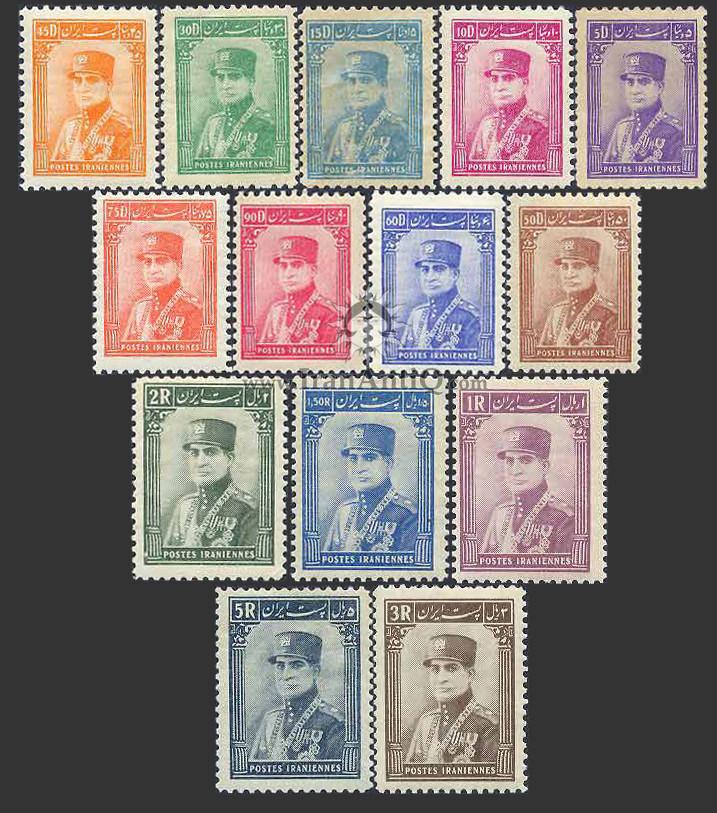 تمبرهای سری ستونی رضا شاه پهلوی