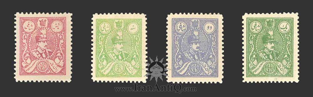 تمبرهای سری تصویری رتوشه رضا شاه پهلوی