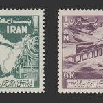 تمبر افتتاح خط آهن تهران - تبریز 1337 - محمدرضا شاه