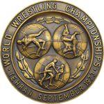 مدال یادبود مسابقات جهانی کشتی تهران 1352 - محمد رضا شاه
