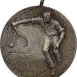 مدال آویز ورزشی نقره - تنیس - 1326 - محمد رضا شاه