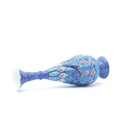 گلدان میناکاری طرح اسلیمی و ختایی - 30 سانتی