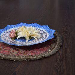 بشقاب میناکاری طرح گل و مرغ - 25 سانتی در چیدمان